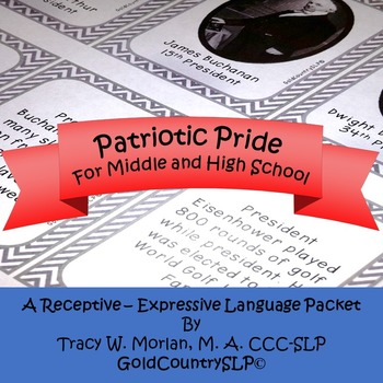 Patriotic Pride - A Receptive - Expressive Language Packet