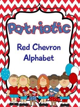 Patriotic Red Chevron Alphabet