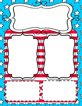 Patriotic Red, White and Blue Editable Newsletter Template
