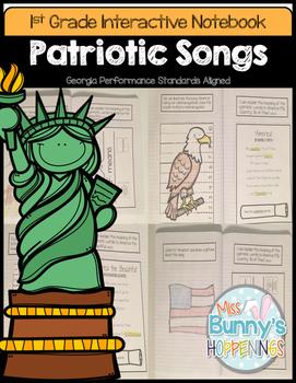 Patriotic Songs Interactive Notebook (1st Grade)