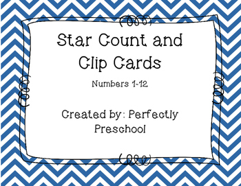 Patriotic Stars Count and Clip Cards (Fourth of July)