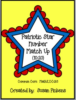 Patriotic Stars Number Match Up 10-20 (Common Core Aligned)