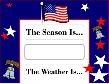 Patriotic Weather Chart! American Flag Weather Chart! Flag
