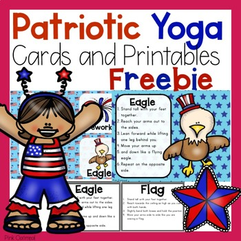 Patriotic Yoga Cards and Printables