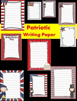 Patriotic/Presidents' Day Writing Papers - Personal & Comm