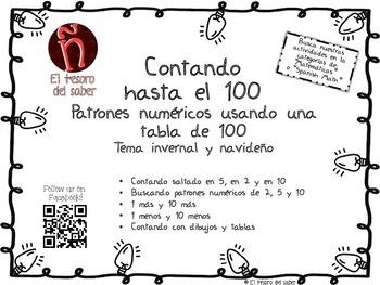 Patrones numéricos - 100 Chart Spanish Activities - Number
