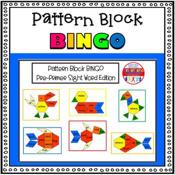 Sight Word Activity - Pattern Block Bingo: Pre-Primer Sigh
