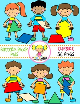 Pattern Block Kids {Clipart}