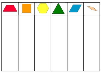 Pattern Block Sorting Mat