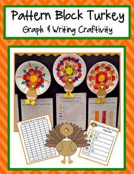 Pattern Block Turkey Graph and Writing Activities