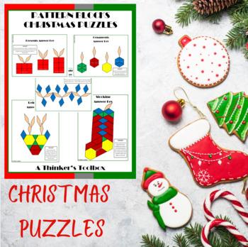 Pattern Blocks Christmas Puzzles