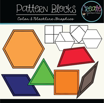 Pattern Blocks - Digital Clipart