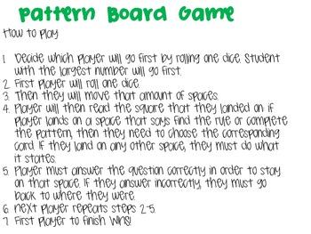 Pattern Board Game