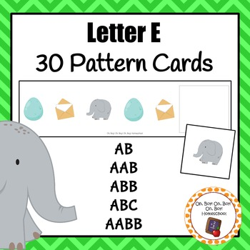 Pattern Cards: Letter Ee Pattern Cards