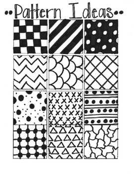 Pattern Drawing Reference Sheet