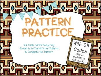Pattern Practice with QR Codes {24 Task Cards with Number