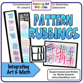 Art Lesson - Pattern Rubbings - Math Integrated