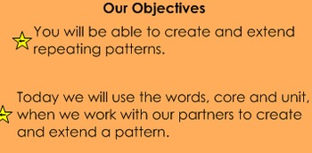 Pattern Vocabulary (Core and Unit)