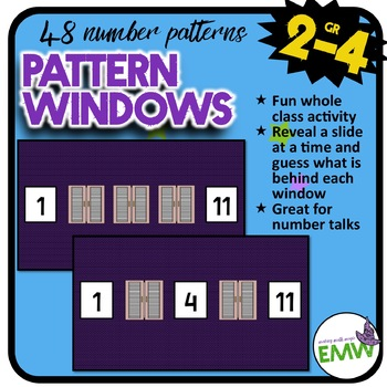 Patterns Windows Whole Group Thinking Activity