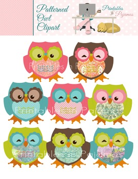 Patterned Owl Clipart