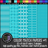 Patterned Papers: KG Color Match Papers Set Four