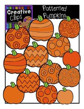 Patterned Pumpkins {Creative Clips Digital Clipart}