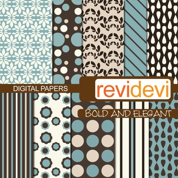Patterned papers for background - Bold and elegant