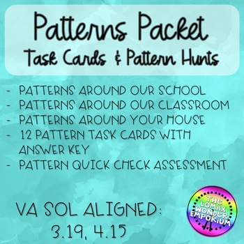 Pattern Task Cards with Pattern Hunts!