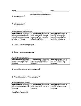 Patterns Assessment