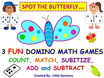Subitize and Build  Number Sense With Butterflies and Dominoes