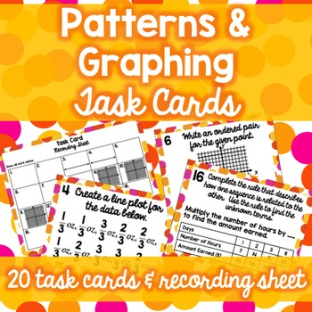 Patterns & Graphing Task Cards