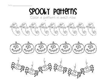 Patterns (Halloween Theme)
