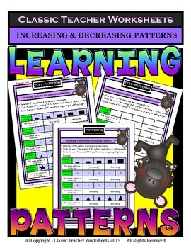Increasing & Decreasing Patterns - Shapes &... by Classic Teacher ...