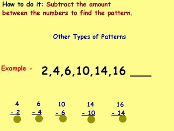 Basic Math Skills - Patterns - Number Patterns (worksheet