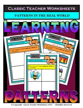 Patterns - Patterns in the Real World - Kindergarten to Gr