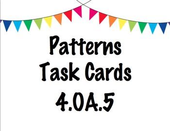 Patterns Task Cards - 4.OA.5