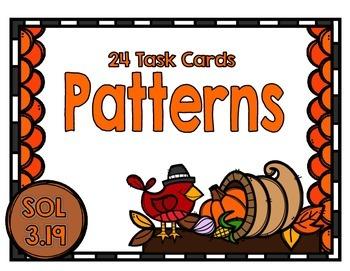 Patterns Task Cards-SOL 3.19
