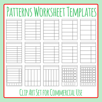 Patterns / What Comes Next Worksheet Templates Clip Art fo
