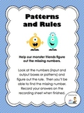 Patterns and Rules - A Math Center