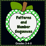 Number Patterns and Number Sequence No Prep Printables