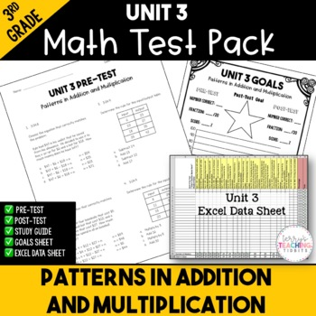 Patterns in Addition and Multiplication Test Pack *3rd Gra