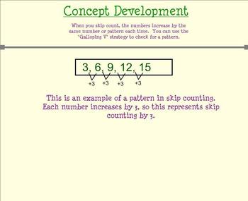 Patterns in Skip Counting: Galloping Vs (Day 4 Smartboard)