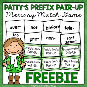 Patty's Prefix Pair-Up Freebie - A Memory Matching Game of
