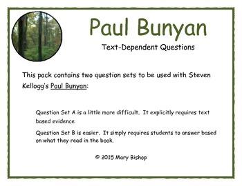 Paul Bunyan Text-Dependent Questions