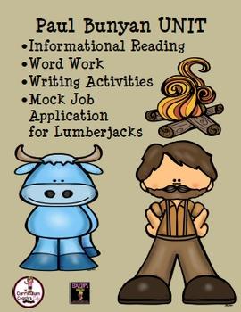 Paul Bunyan Unit: Reading Passages, Word Work, Writing, Ac