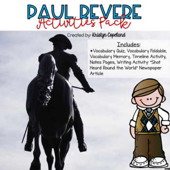 Paul Revere Activities Pack