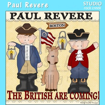 Paul Revere US History Color Clip Art  C. Seslar
