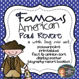 Paul Revere: Famous American Mini Unit {PowerPoint & Printables}