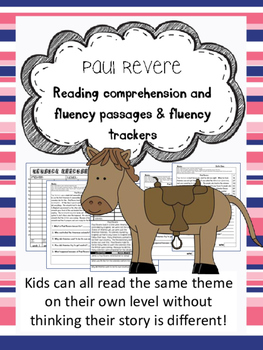 Paul Revere fluency and comprehension leveled passage