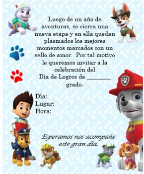 Paw Patrol invitation. Complete editable!!!